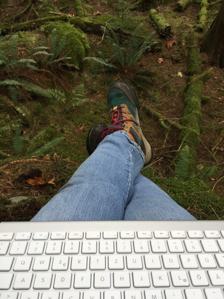 Feet on Forest Floor